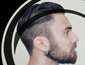 Boucles d'oreilles homme or blanc